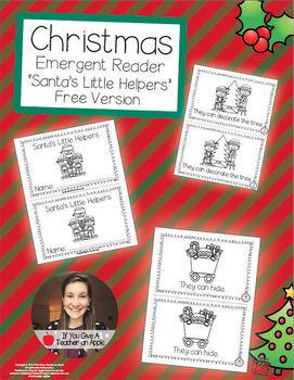 Christmas Emergent Reader Freebie - Santa's Little Helpers