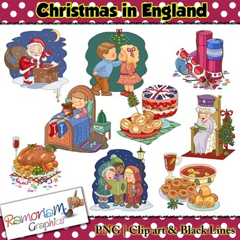 Christmas Around the World Clip art England
