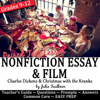 Christmas Charles Dickens's Essay Nonfiction Lesson & Pair