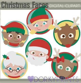 Christmas Faces Clip Art