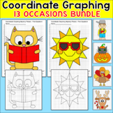 Coordinate Graphing Ordered Pairs Bundle - Halloween Math