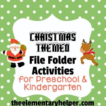 Christmas File Folder Activities for Preschool and Kindergarten