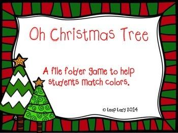 Christmas Tree Color Matching- File Folder Game