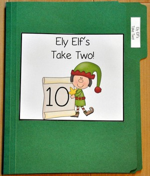 "Christmas File Folder Game--""Ely Elf's Take Two"""