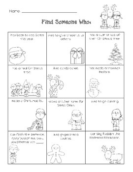 Christmas Find Someone Who