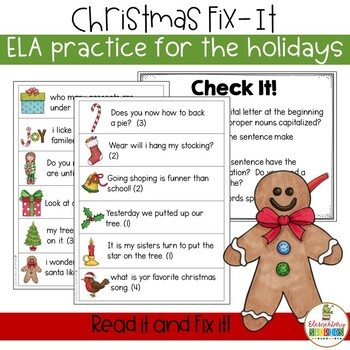 Christmas Fix-It ~ an editing activity