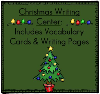 Christmas Flashcards of Vocabulary and Pictures and Litera