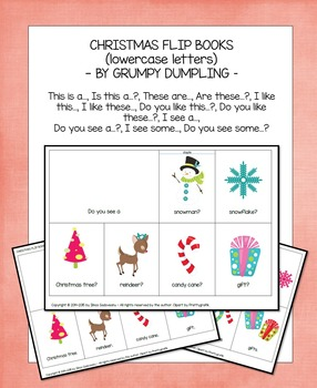 Christmas Flip Books (lowercase letters)