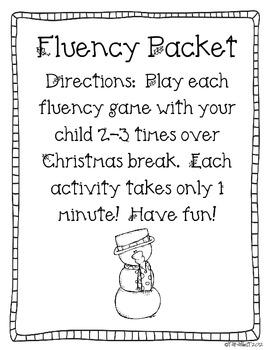 Christmas Fluency Packet FREEBIE