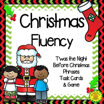 Christmas Fluency Task Cards and Game