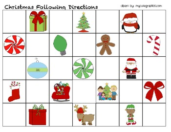 Christmas Following Directions - Free