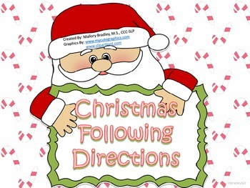 Christmas Basic Concepts Following Directions for Speech a