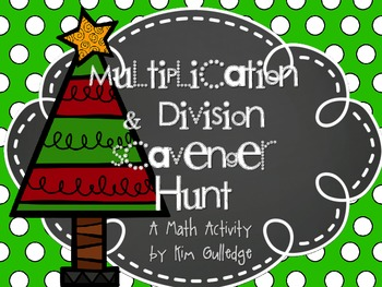 Christmas Four Operations Scavenger Hunt