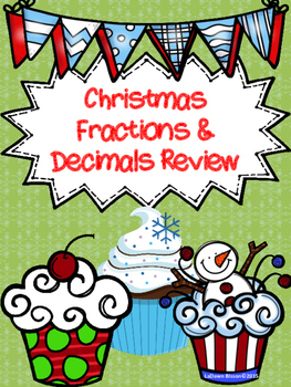 Christmas Fractions and Decimals Review