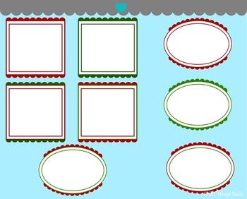 Christmas Frames Clip Art
