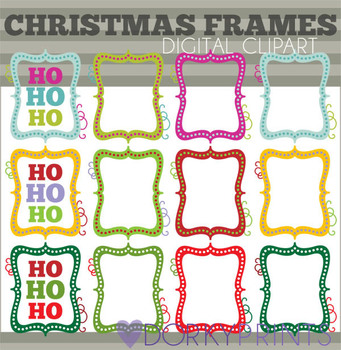 Christmas Frames Colored Clip Art