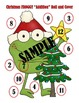"""Christmas Froggy """"Addition"""" Roll and Cover - 2 Dice"""