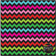 Christmas Fun Chevron on Black Digital Papers {Commercial