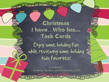 Christmas Fun: I have Who Has Task Cards with Christmas trivia