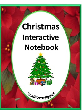 Christmas Math & Literacy Centers Interactive Notebook Act