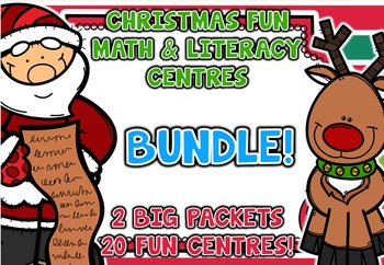 Christmas Fun Math and Literacy Centre BUNDLE
