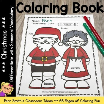 Coloring Pages for Christmas with Differentiated Seasonal
