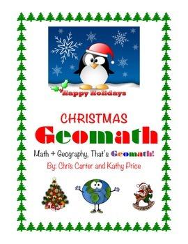 Christmas GEOMATH - Math + Geography = Fun!