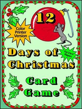 Christmas Game Activities: 12 Days of Christmas Card Game