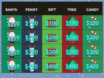 Christmas Game Show Template