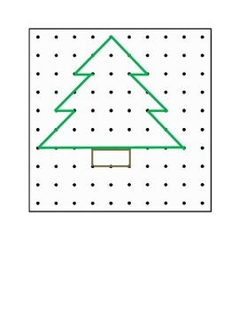 Christmas Geoboard Designs