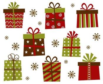 Christmas Gift Boxes Clip Art
