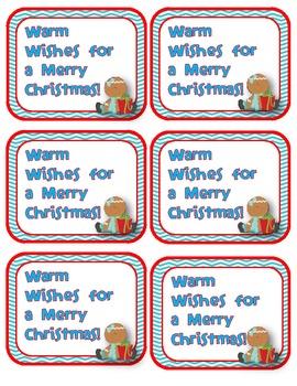Christmas Gift Exchange Tags