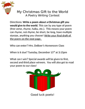 My Christmas Gift to the World: A Student Poetry Contest/