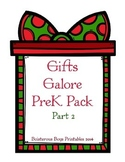 Christmas Gifts Galore PreK Printable Pack - Part 2