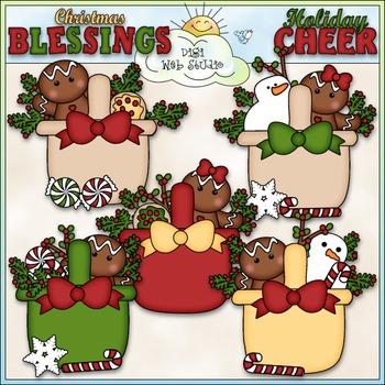 Christmas Gingerbread Baskets Clip Art - Christmas Clip Ar