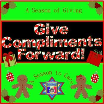 Christmas - Give Compliments Forward Activity for Christmas