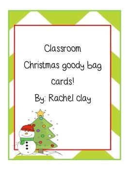 Christmas Goody Bag Card