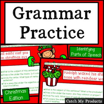 Christmas Grammar Groomers for Promethean Board Use