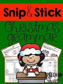 Christmas Grammar: Snip and Stick