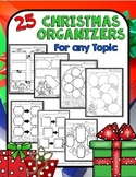 Christmas Activities: Graphic Organizers