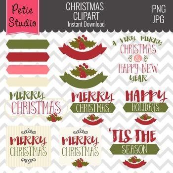Christmas Greetings // Holiday Greetings // New Year Clipa