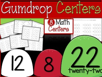 Christmas Gumdrop Math Centers- 8 included!