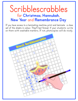 Christmas, Hannukah, New Year & Remembrance Day Scribblesc