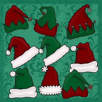 Christmas Hats Clip Art
