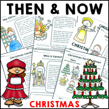 Christmas History Then and Now Reading Comprehension Sheet