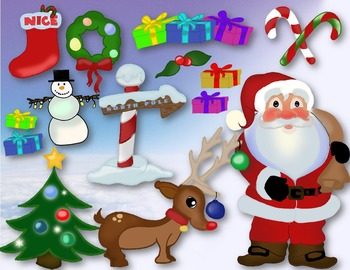 Holiday Clipart Plus Page Border Lights Winter Christmas H