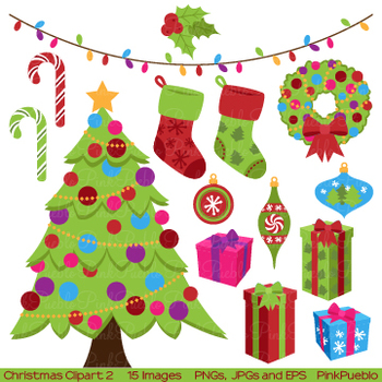 Christmas Holiday Clipart and Vectors