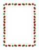 Christmas Holiday Doodle Borders Clip Art Blackline Color