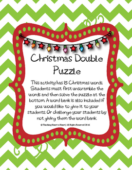 Christmas Holiday Double Puzzle