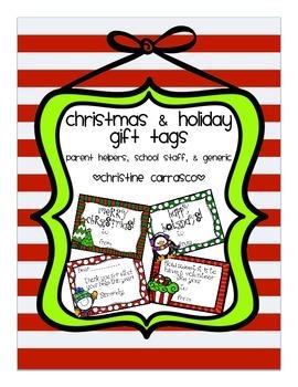 Christmas & Holiday Gift Tags (Editable & PDF)
